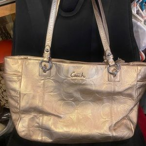 Coach Embossed Leather Purse